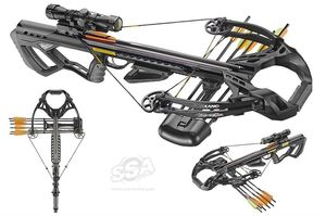 arbalete CROSSBOW SETS GUILLOTINE-X BLACK 400fps 185LBS SCOPE & ACCES.