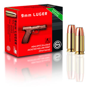 GECO 9mm LUGER HOLLOW POINT POINTE CREUSE 124GR/8.0g    x20